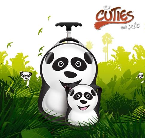 CUTIES and PALS dětský batoh a kufřík panda