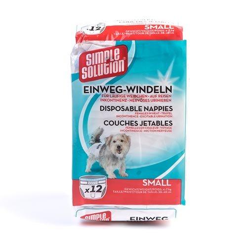 Simple Solution Pleny pro psy, 12ks, velikost S