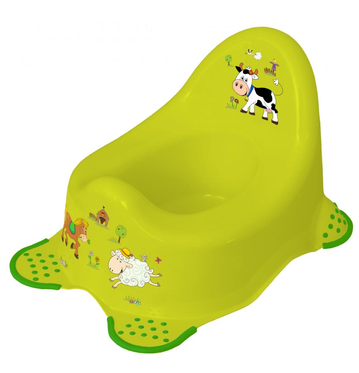 Keeeper Protiskluzový nočník adam, Funny farm, žlutozelený