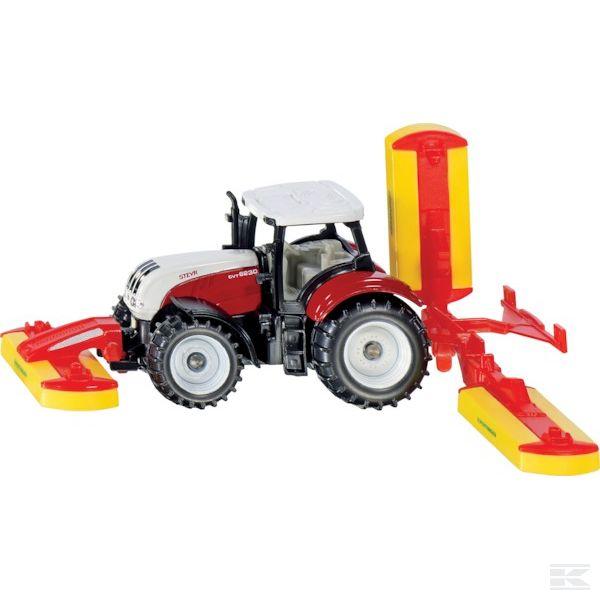 Traktor Steyr CVT 6230 se sekačkou Pöttinger SIKU