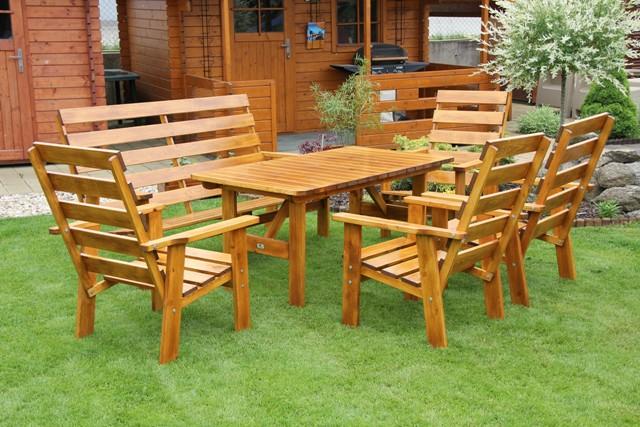 Zahradní dřevěný set Liška SEVILA II. bez povrchové úpravy