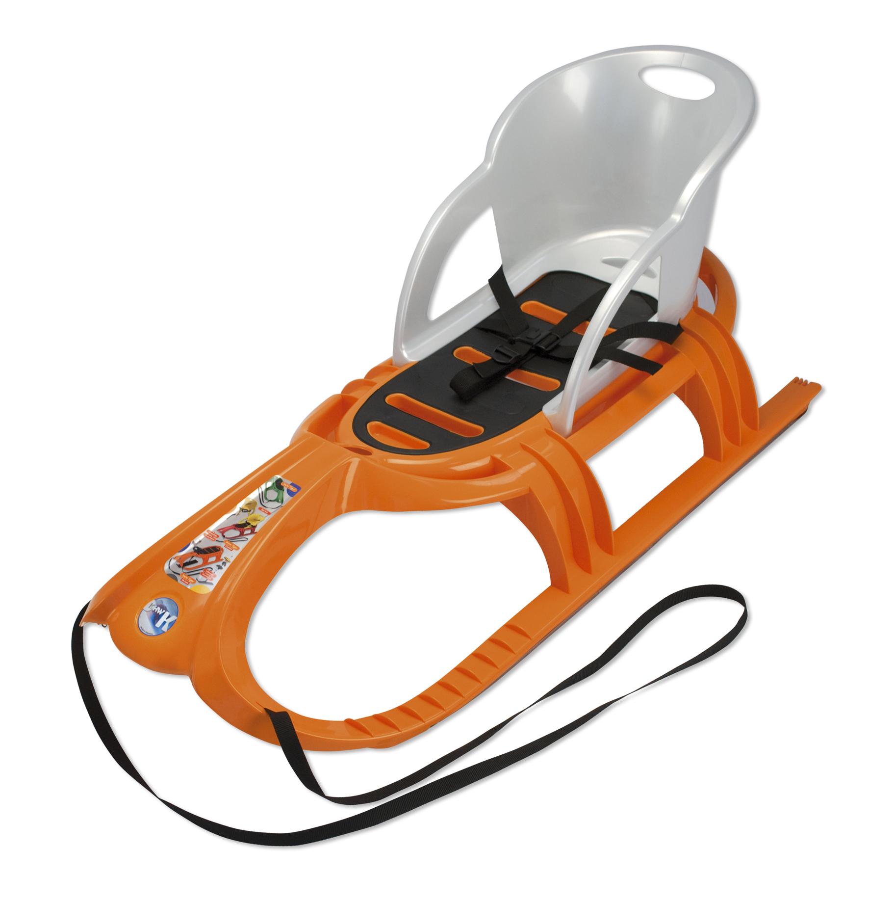Sáňky KHW Snow Tiger Comfort oranžové