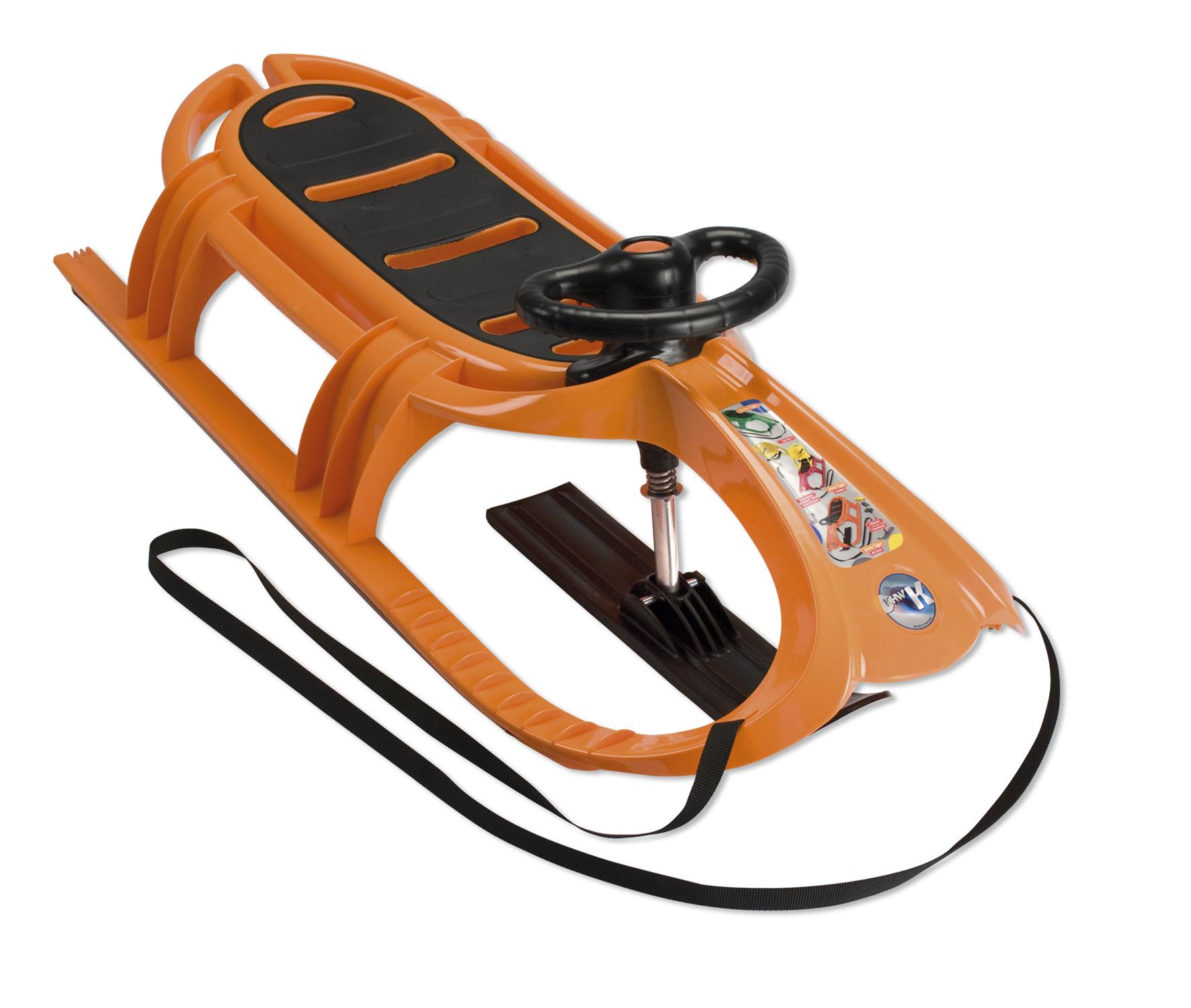 Sáňky KHW Snow Tiger de Luxe světle oranžové