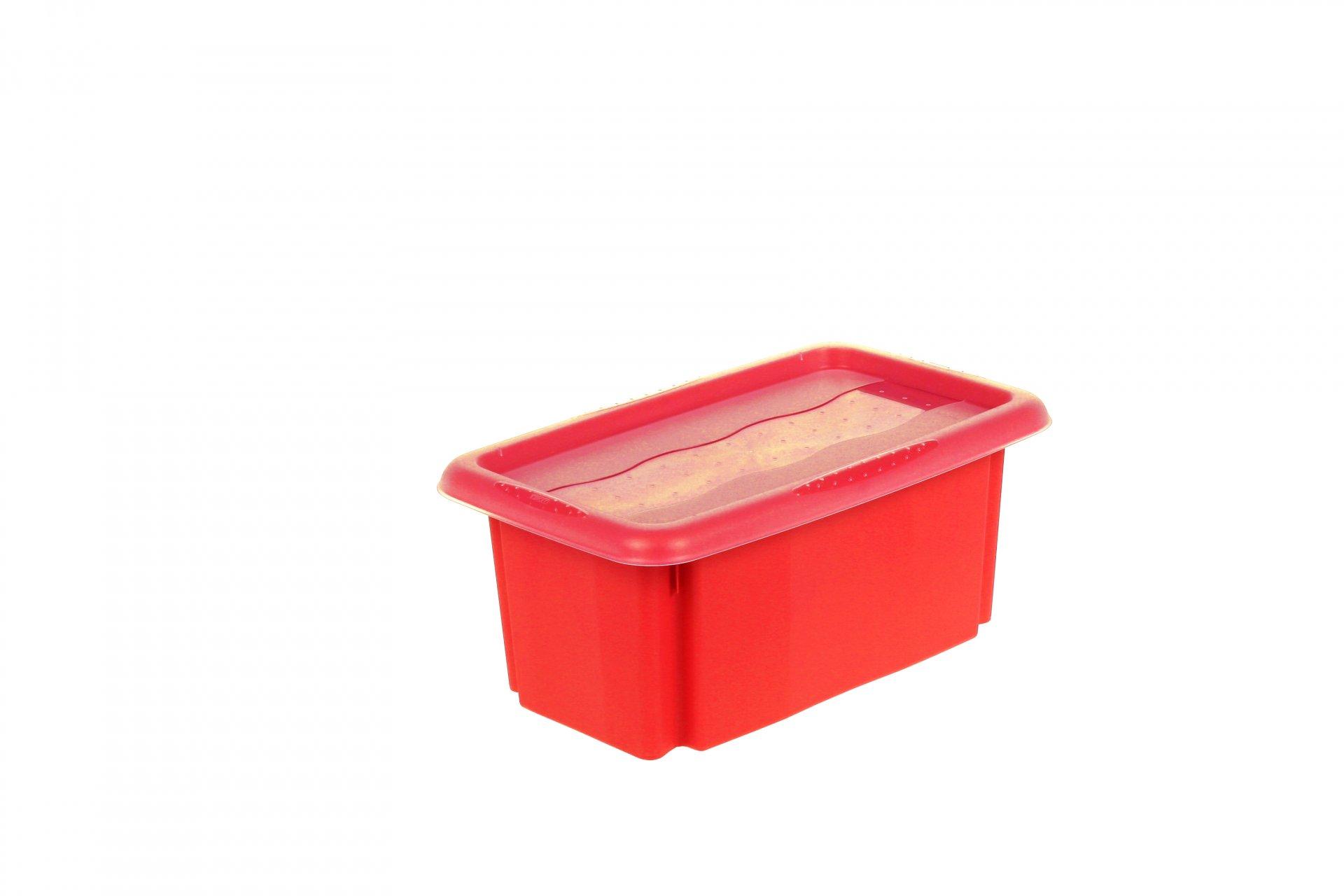 Keeeper Úložný box s víkem Emil & Emilia, červený 7L