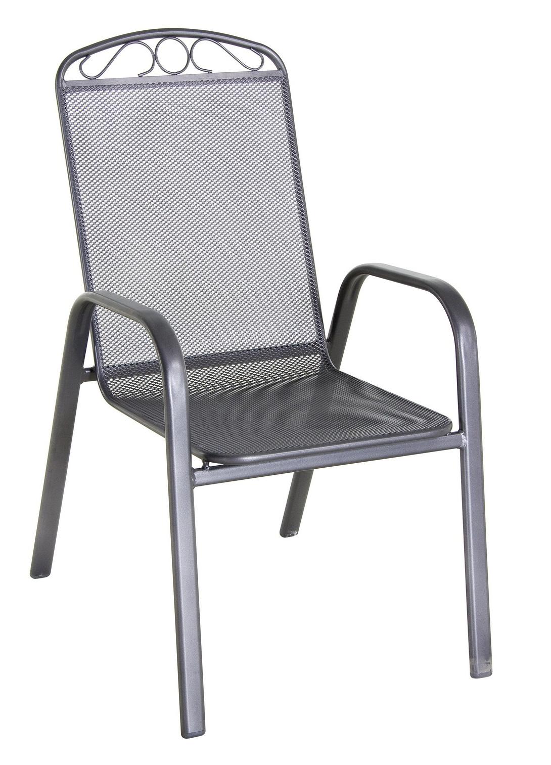 Stohovatelná židle z tahokovu Garland Klasik