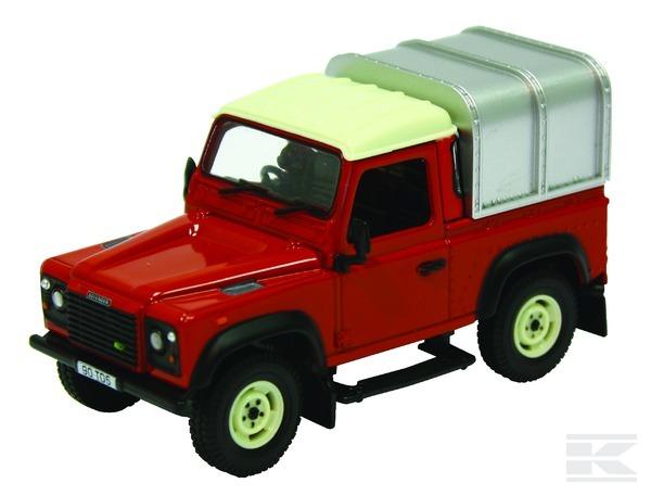 Off-road Land Rover Defender červený BRITAINS