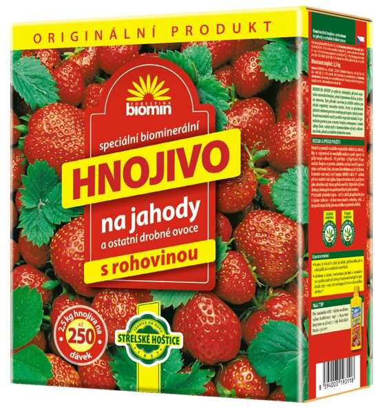 Hnojivo na jahody 25 kg Forestina BIOMIN