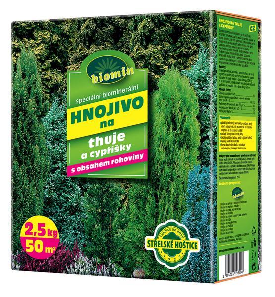 Hnojivo na thuje a cypřišky 2,5 kg Forestina BIOMIN
