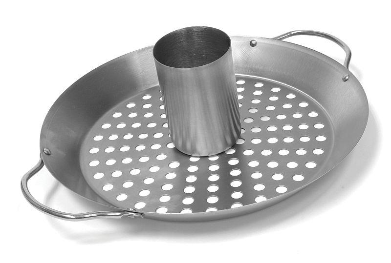 """""""Platinum"""" Wok / Vertikální stojan na grilování kuřete Charcoal Companion"""