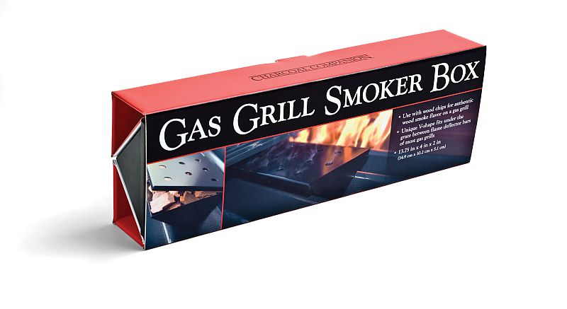 """""""V"""" udící box do plynového grilu, velký Charcoal Companion"""