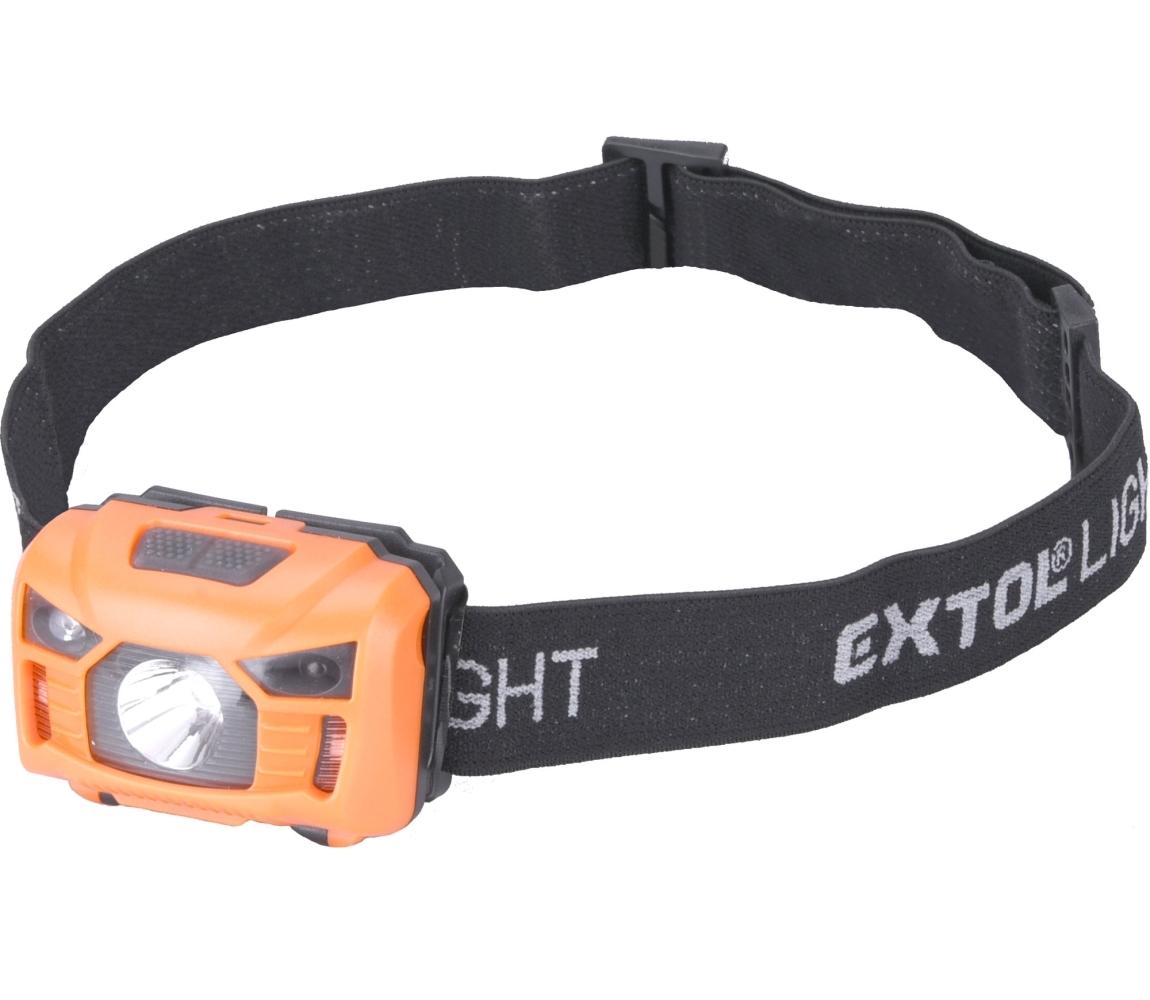 Čelovka 100lm, nabíjecí, USB, 3W LED EXTOL LIGHT 43180