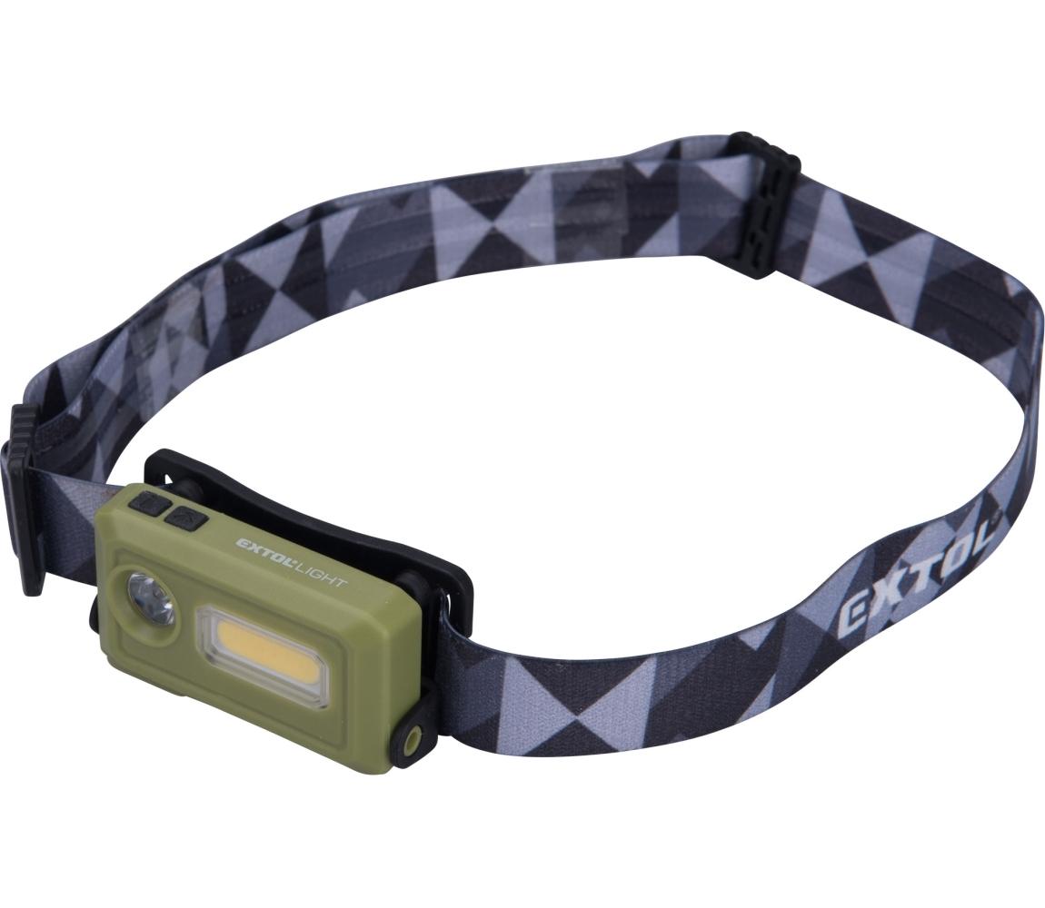 Čelovka 140lm, nabíjecí, USB, LED+COB LED EXTOL LIGHT 43184