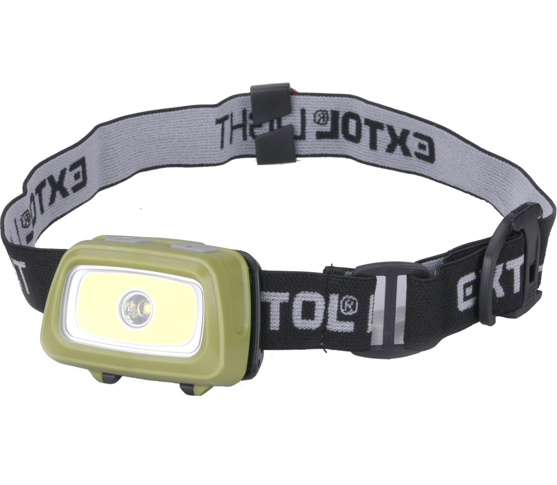 Čelovka 250lm Seoul LED, 250lm LED, cerv./zel. světlo pro noční vidění EXTOL LIGHT 43108