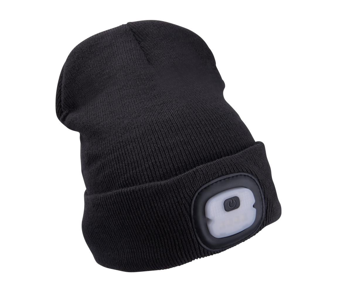 Čepice s čelovkou 4x25lm, nabíjecí, USB, tmavě šedá, ECONOMY, uni EXTOL LIGHT 43452