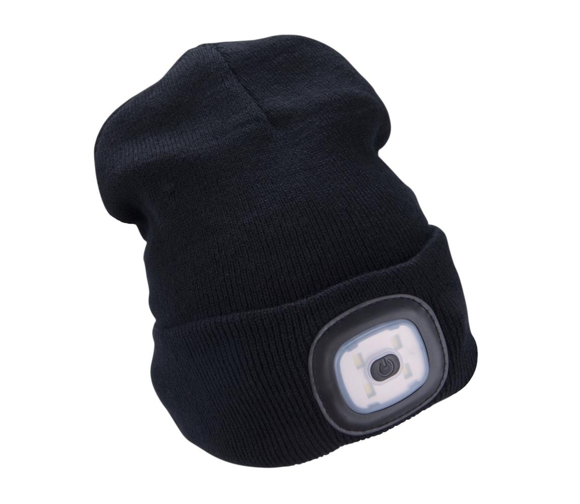 Čepice s čelovkou 4x45lm, nabíjecí, USB, černá, uni EXTOL LIGHT 43199