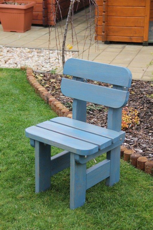 Zahradní dřevěná židle DĚTSKÁ SESTAVA bez povrchové úpravy
