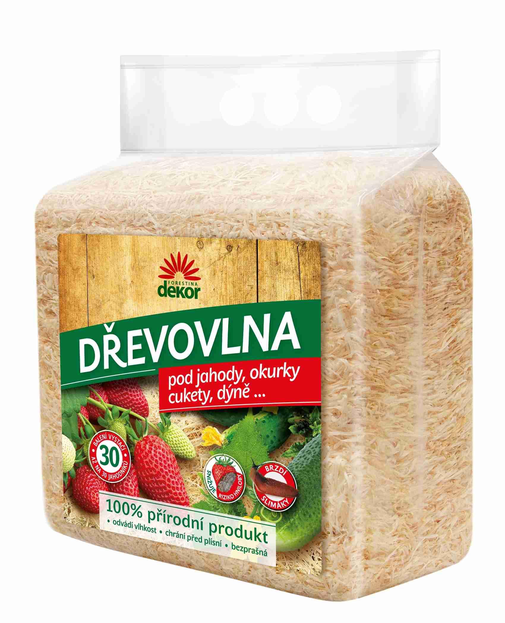 FORESTINA Dekor Dřevovlna (dřevitá vlna) 850g - snižuje riziko hniloby a brzdí slimáky