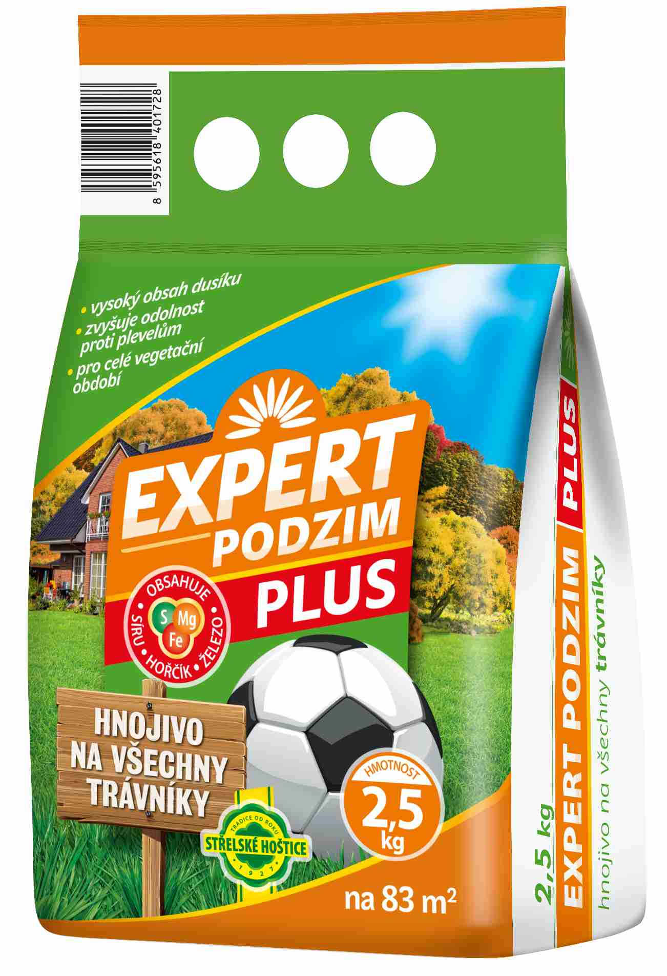 Trávníkové hnojivo EXPERT PLUS PODZIM - 2,5 kg Forestina