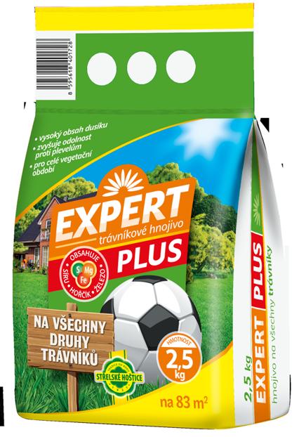 Trávníkové hnojivo EXPERT PLUS 2,5 kg Forestina