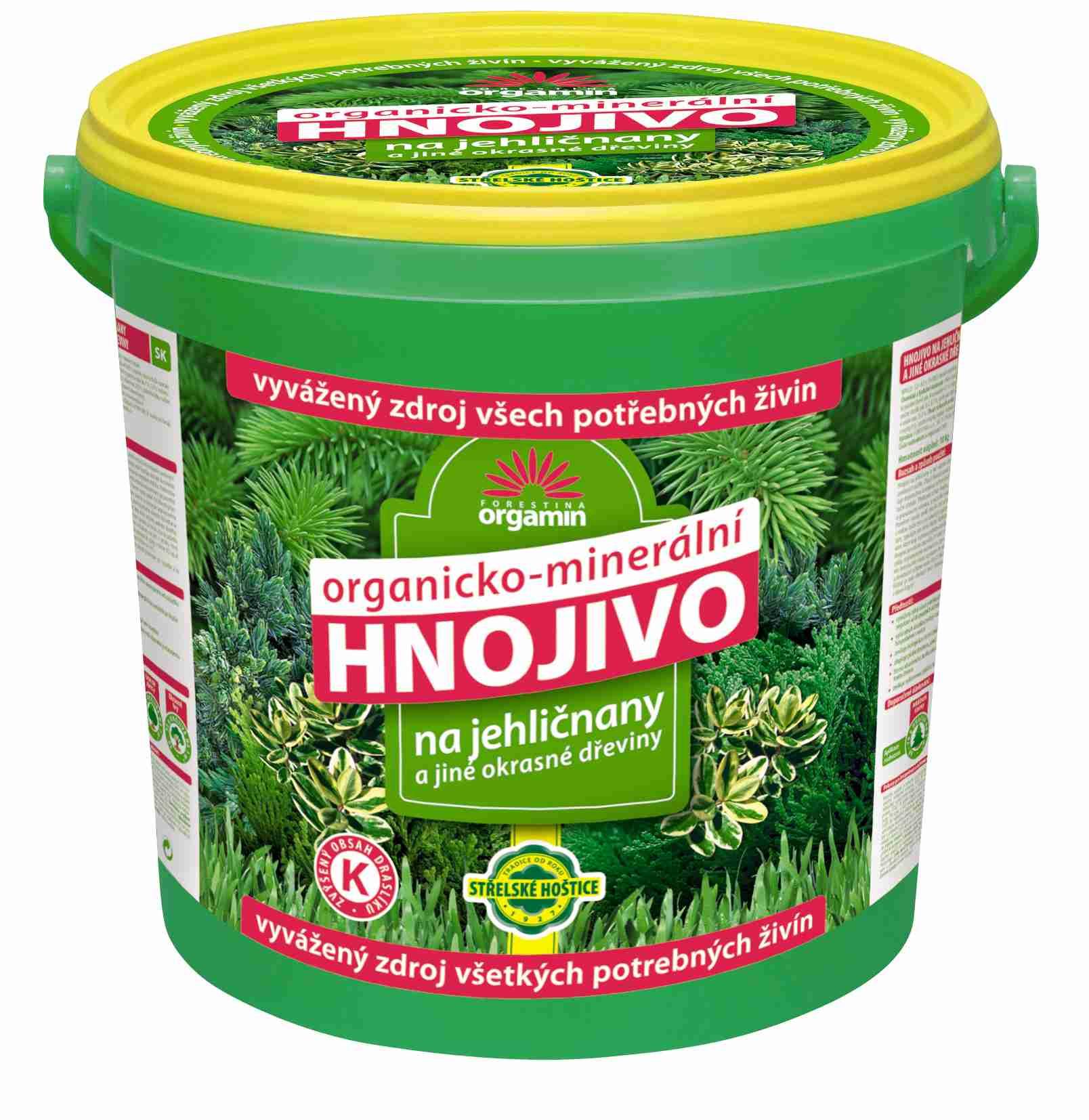 Hnojivo pro jehličnany a jiné okrasné dřeviny 25 kg Forestina