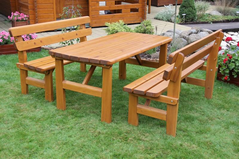 Zahradní dřevěný set FINLAND I. s povrchovou úpravou
