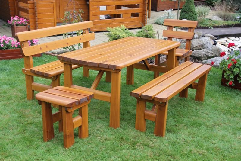 Zahradní dřevěný set FINLAND II. s povrchovou úpravou