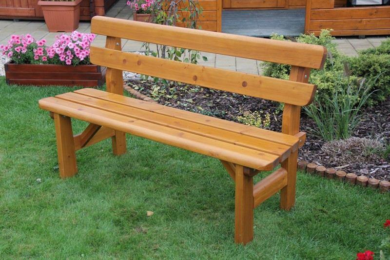 Zahradní dřevěná lavice FINLAND bez povrchové úpravy