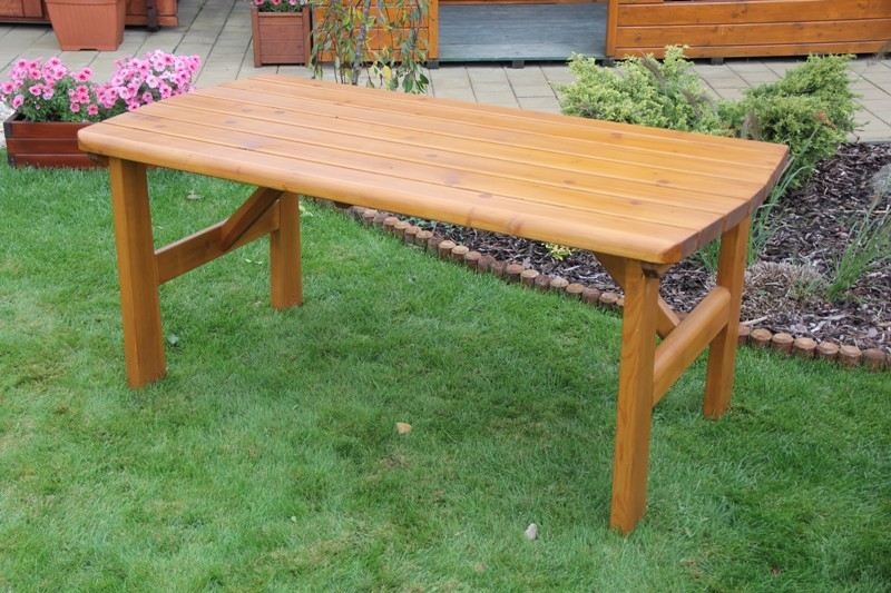 Zahradní dřevěný stůl Liška FINLAND bez povrchové úpravy