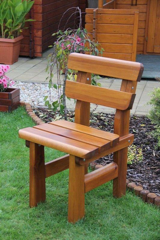 Zahradní dřevěná židle Liška FINLAND bez povrchové úpravy