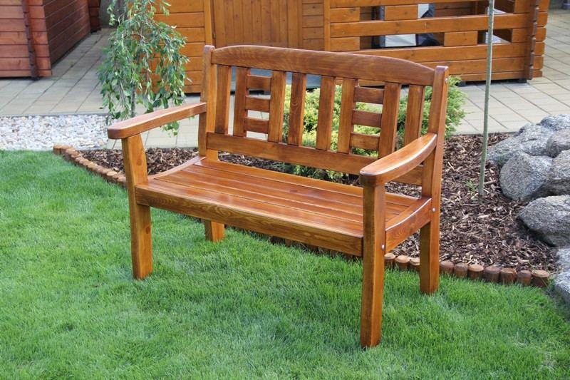 Zahradní dřevěná lavice pro 2 osoby GOLD bez povrchové úpravy