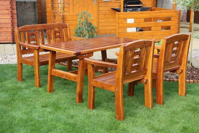 Zahradní dřevěný set GOLD I. s povrchovou úpravou