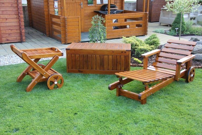 Zahradní dřevěný set GOLD IV. s povrchovou úpravou