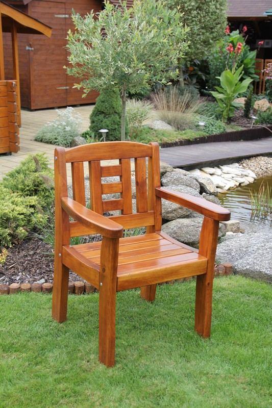 Zahradní dřevěné křeslo GOLD bez povrchové úpravy