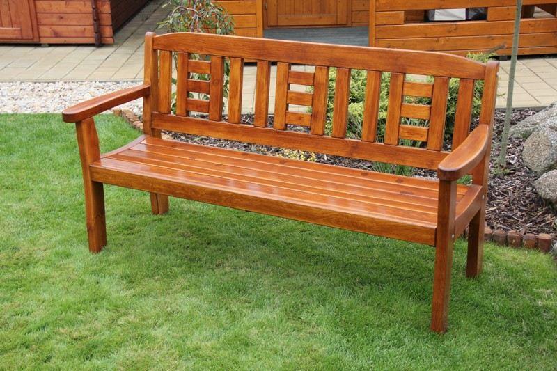 Zahradní dřevěná lavice pro 3 osoby GOLD bez povrchové úpravy