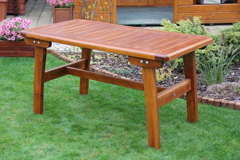 Zahradní dřevěný stůl malý Liška GOLD bez povrchové úpravy