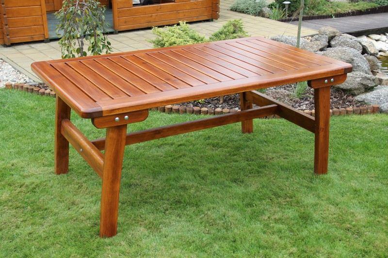 Zahradní dřevěný stůl velký Liška GOLD bez povrchové úpravy