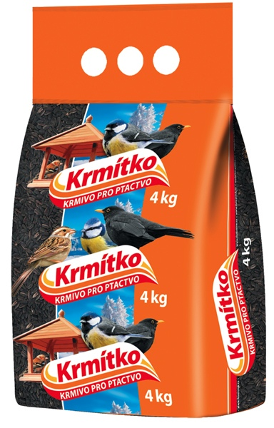 Krmivo pro ptactvo - Slunečnice černá 10 kg KRMÍTKO