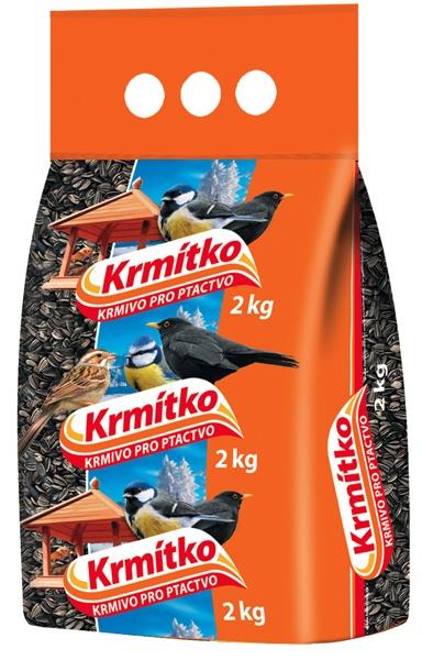 Krmivo pro ptactvo - Slunečnice žíhaná 2 kg KRMÍTKO