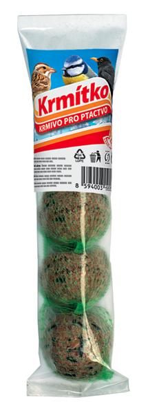 Krmivo pro ptactvo - Lojové koule s ovocem 4 x 85 g KRMÍTKO