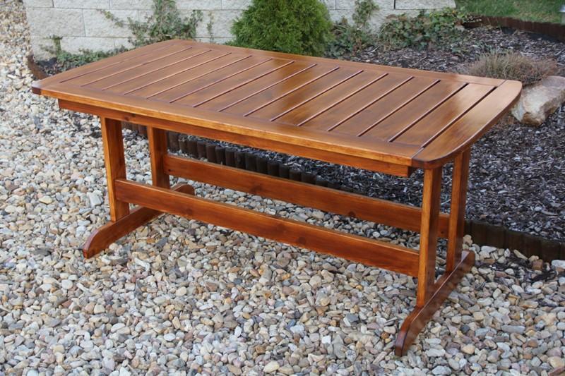 Zahradní dřevěný stůl Liška LONUS bez povrchové úpravy