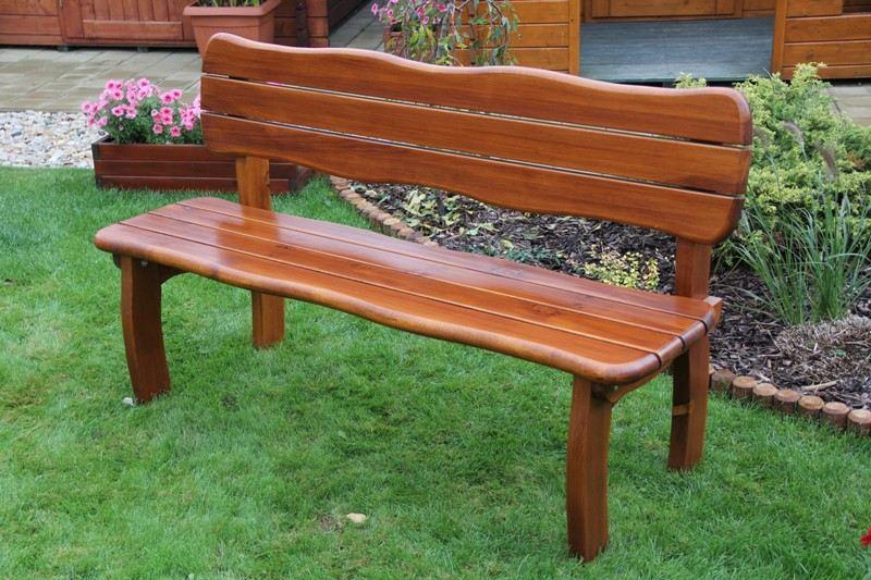 Zahradní dřevěná lavice LORIT bez povrchové úpravy