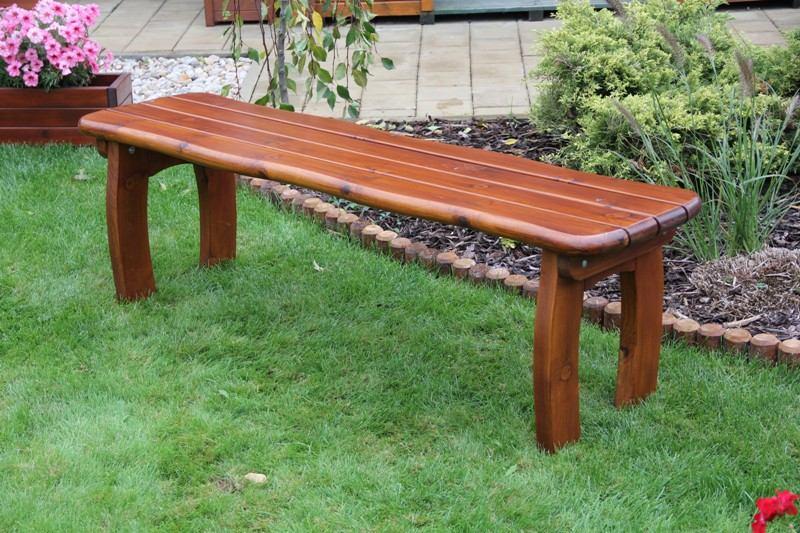Zahradní dřevěná lavice bez opěrky LORIT bez povrchové úpravy