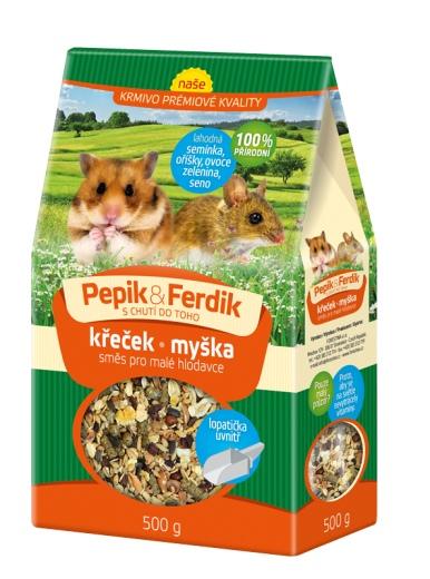 Prémiové krmivo - směs pro malé hlodavce 1000g Pepik&Ferdik Forestina