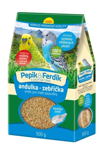 Prémiové krmivo - směs pro malé papoušky 500g Pepik&Ferdik Forestina