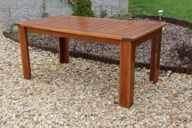 Zahradní dřevěný stůl Liška MEVAN bez povrchové úpravy