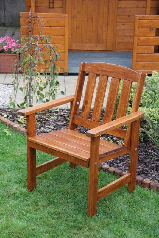 Zahradní dřevěné křeslo ORB bez povrchové úpravy