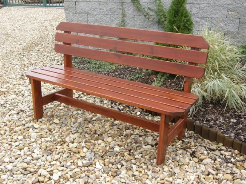 Zahradní dřevěná lavice ORB bez povrchové úpravy