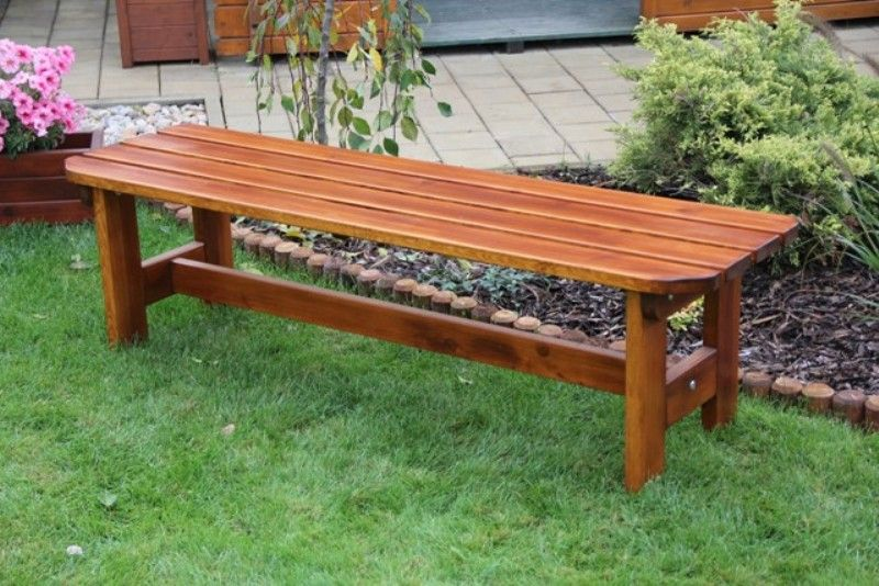 Zahradní dřevěná lavice bez opěrky ORB bez povrchové úpravy