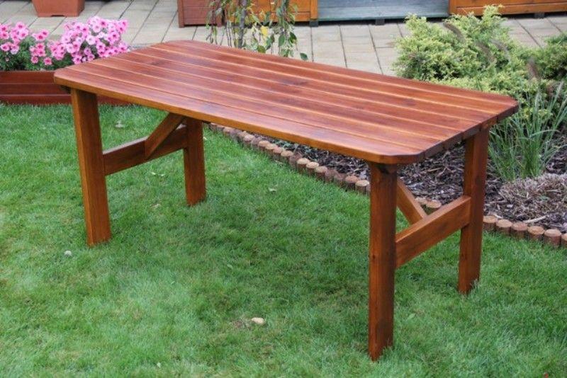 Zahradní dřevěný stůl Liška ORB bez povrchové úpravy