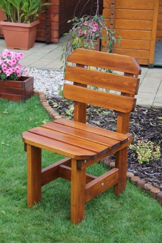 Zahradní dřevěná židle Liška ORB bez povrchové úpravy